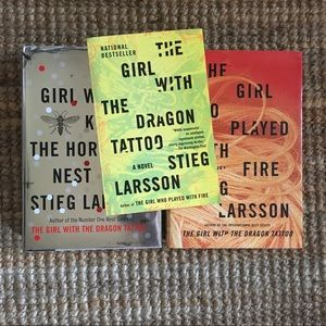 Steig Larsson book trilogy.